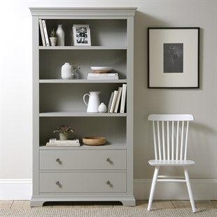 Chantilly Pebble Grey NEW Large Bookcase