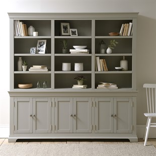Chantilly Pebble Grey NEW Grand Bookcase