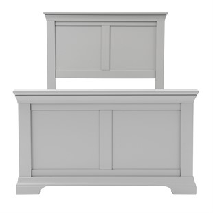 Chantilly Pebble Grey 3ft Single Bed