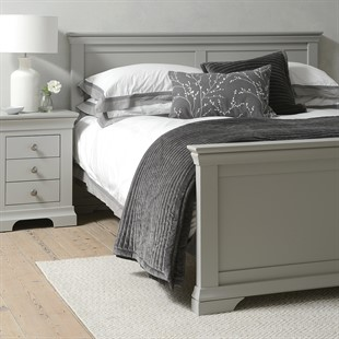 """Chantilly Pebble Grey 4ft 6"""" Double Bed"""