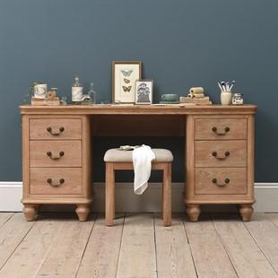 Wickham Washed Oak Dressing Table and Stool