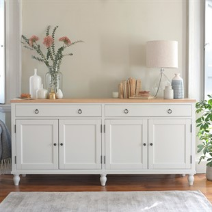 Marlow Pale Grey Extra Large Sideboard