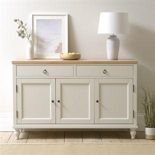 Marlow Pale Grey Large Sideboard