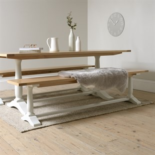 Marlow Pale Grey Dining Bench