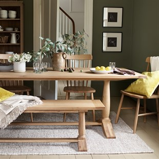 Elkstone Oak Pedestal Dining Table