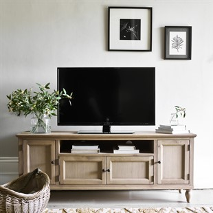 """Elkstone Oak Low and Wide TV Unit Up to 70"""""""