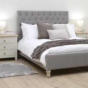 Evesham 5ft King Bed - Slate Velvet
