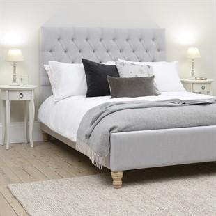 Evesham 6ft Super King Bed - Silver Linen
