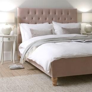 Evesham 5ft Kingsize Bed - Blush Velvet