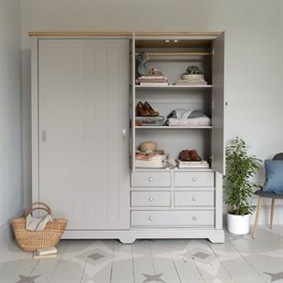 Malvern Mink Large Wardrobe with Sliding Doors