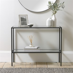 Foxcote Metal and Glass NEW Console Table