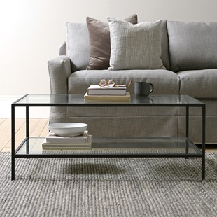 Foxcote Metal and Glass NEW Coffee Table