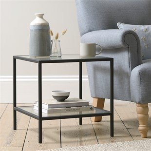 Foxcote Metal and Glass NEW Side Table
