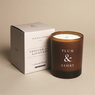 Plum and Ashby Candle - Vetiver and Lavender