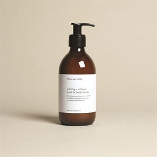 Plum and Ashby Hand and Body Lotion - Wild Fig and Saffron
