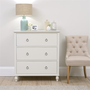 Wilmslow Pale Grey NEW 3 Drawer Chest