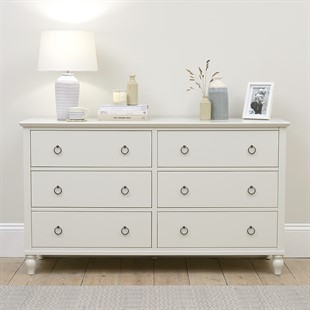 Wilmslow Pale Grey NEW 6 Drawer Chest