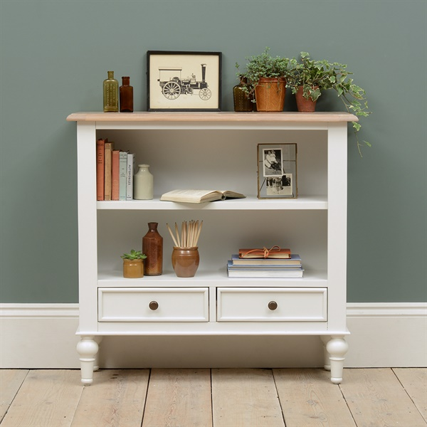 Ellenborough Painted Small And Wide Bookcase The Cotswold Company