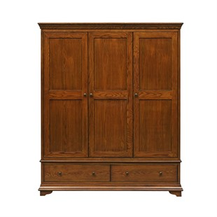 Winchcombe Dark Oak NEW Triple Wardrobe