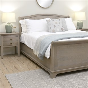 Winchcombe Smoked Oak NEW 6ft Super King Sleigh Bed