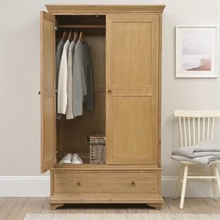 Winchcombe Oiled Oak NEW Double Wardrobe