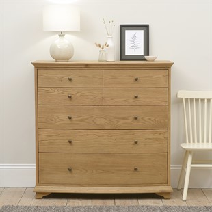 Winchcombe Oiled Oak NEW 4 Over 3 Chest of Drawers