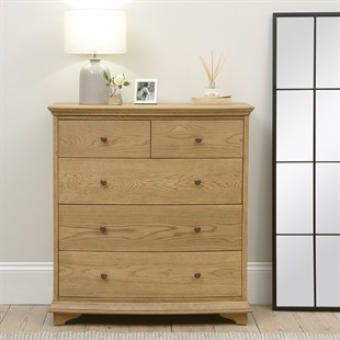Winchcombe Oiled Oak NEW 2+3 Chest of Drawers