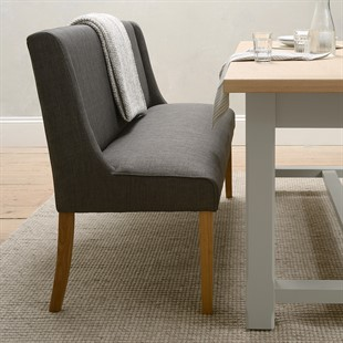 Padstow Dining Bench - Charcoal