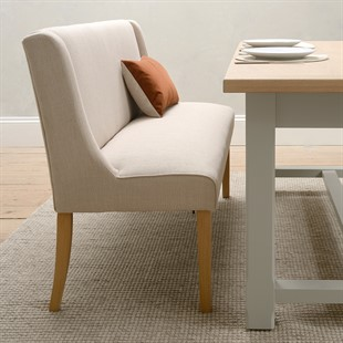 Padstow Dining Bench - Stone
