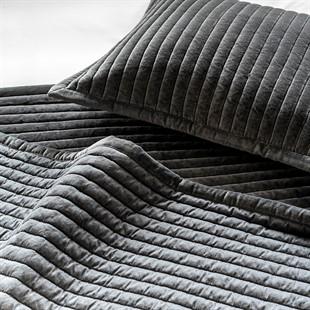Cotton Velvet Charcoal Bedspread 250x260cm