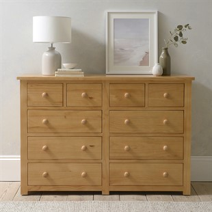 Oakley Pine 10 Drawer Double Chest