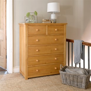 Oakley Pine 2+4 Chest of Drawers