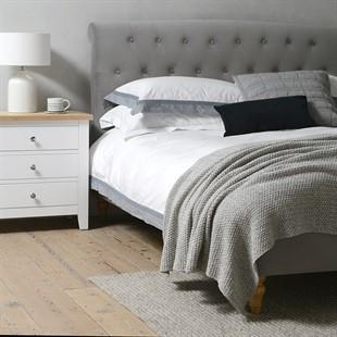 Huxley 5ft Kingsize Bed - Soft Velvet - Flint