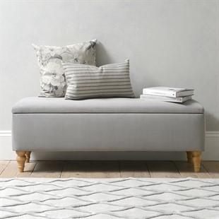Huxley Ottoman - Soft Velvet - Flint Grey