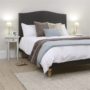 """Witney 4ft 6"""" Double Bed - Charcoal Tweed"""