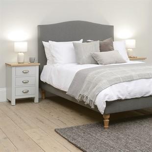 Witney 5ft Kingsize Bed - Slate Tweed