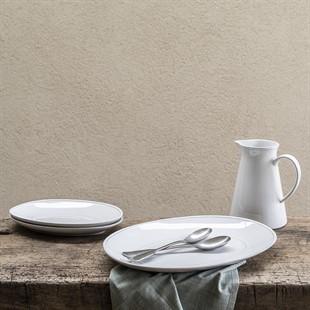 Cherwell 40cm Oval Platter - White