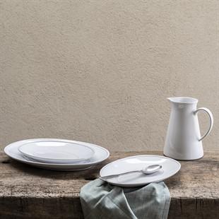 Cherwell 30cm Oval Platter - White