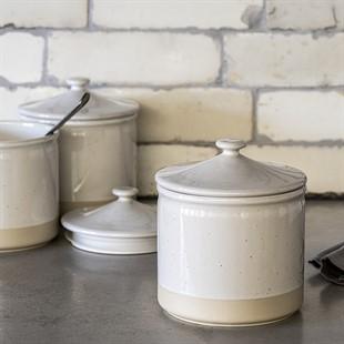 Bybrook Storage Jar with Lid - White