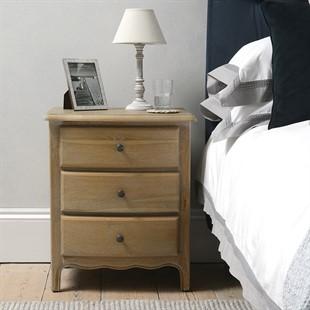 Camille Limewash Oak Bedside