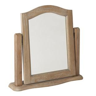 Camille Limewash Oak Dressing Table Mirror