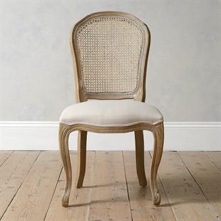 Camille Limewash Oak Rattan Back Chair