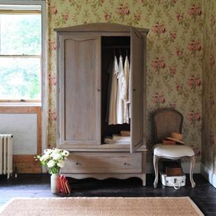 Camille Limewash Oak Double Wardrobe