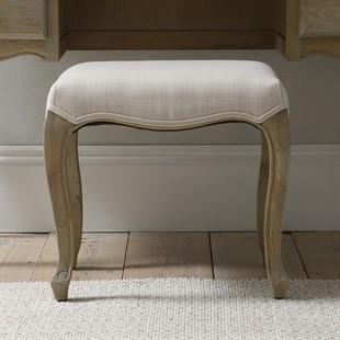 Camille Limewash Oak Dressing Table Stool