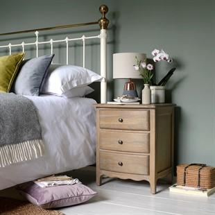Camille Limewash Oak Set of 2 Bedsides