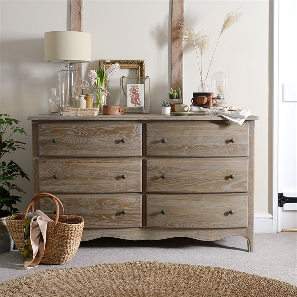 Limewash Solid Wood Chests Of Drawers In Oak Pine Painted Styles
