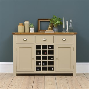 Lundy Stone Sideboard with Wine Rack