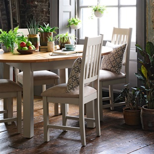 Lundy Stone Slat Back Dining Chair