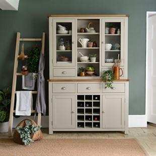 Lundy Stone Dresser with Wine Rack