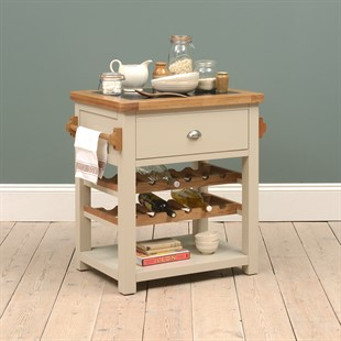 Lundy Stone Butchers Block with Wine Rack